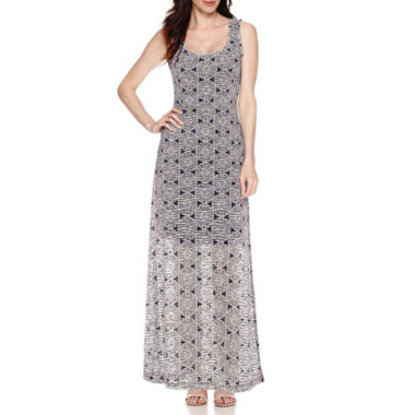 jcpenney.com | RN Studio by Ronni Nicole Sleeveless Medallion-Print Burnout Maxi Dress
