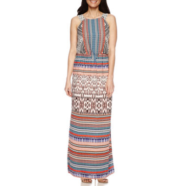jcpenney.com | Signature by Sangria Sleeveless Blouson Maxi Dress