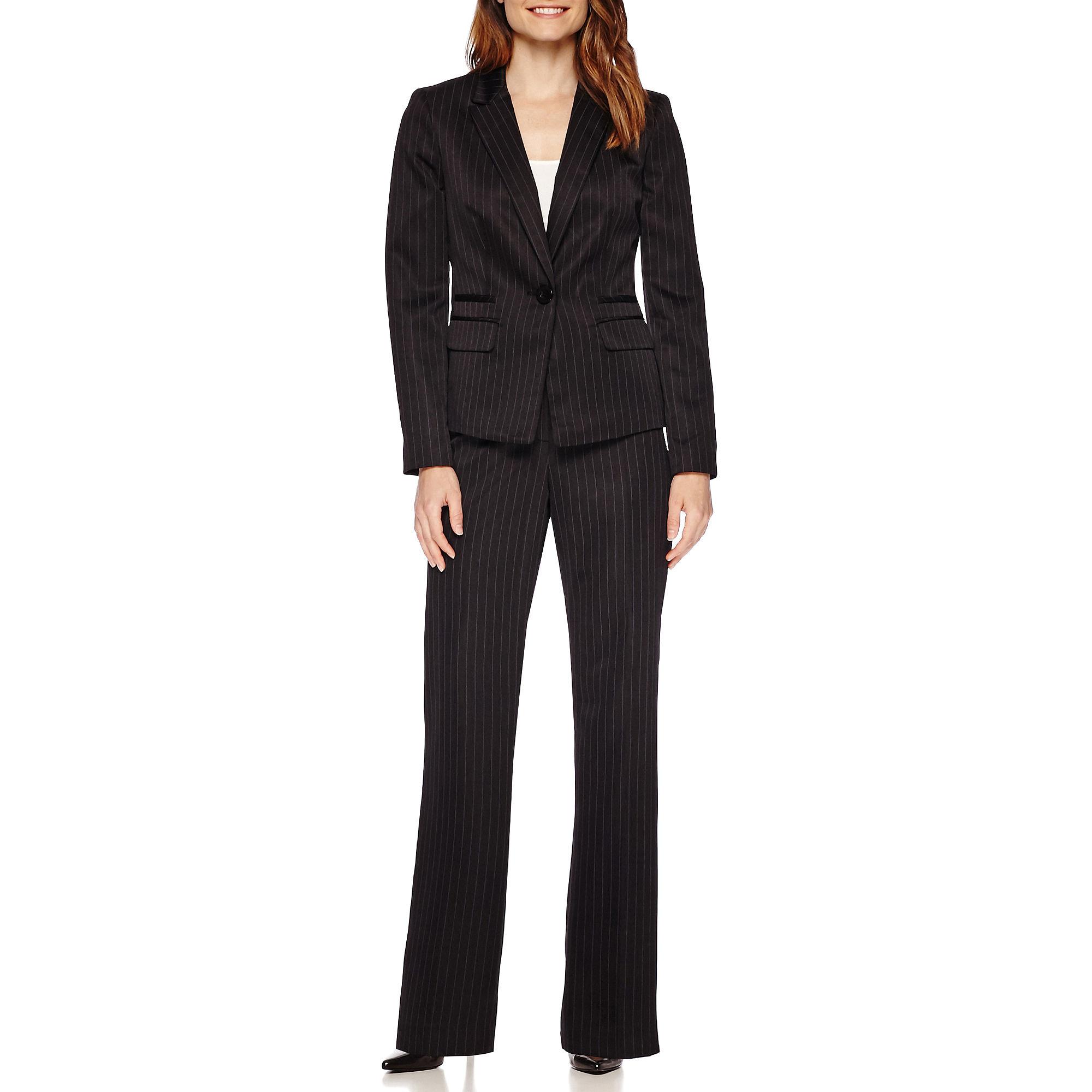 Brilliant  Black Military Long Jacket StraightLeg Women39s Size 2 Pant Suit 320