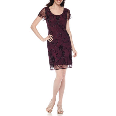 jcpenney.com | Prelude Short-Sleeve Beaded Sheath Dress