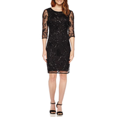 jcpenney.com | Prelude 3/4-Sleeve Beaded Shift Dress
