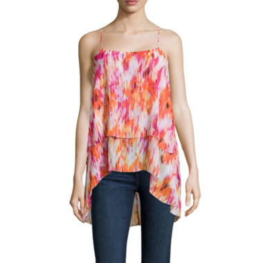 jcpenney.com | a.n.a® Tiered Chiffon Tank Top - Tall