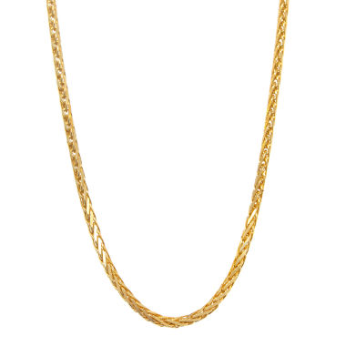 "jcpenney.com | 14K Yellow Gold Diamond-Cut Wheat Chain 22"" Necklace"
