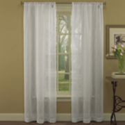 Laura Ashley® Audrey 2-Pack Sheer Embroidered Rod-Pocket Curtain Panels