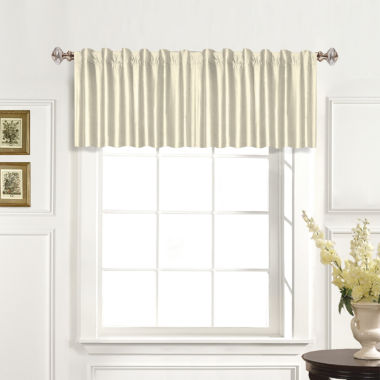 jcpenney.com | United Curtain Co. Dupioni Silk Back-Tab Straight Valance