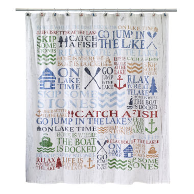 jcpenney.com | Avanti® Lake Words Shower Curtain