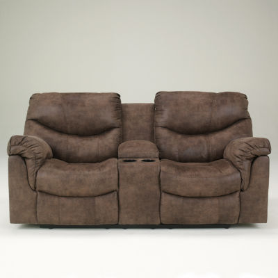 signature design by ashley holton double reclining loveseat with console