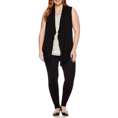 jcpenney.com | Liz Claiborne Cascade Vest Cardigan, Tank Top or Leggings