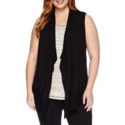 Liz Claiborne® Cascade Vest Cardigan - Plus