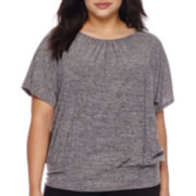 Alyx® Short-Sleeve Malone Top with Lattice Back Detail - Plus