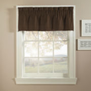 Basketweave Rod-Pocket Tailored Valance