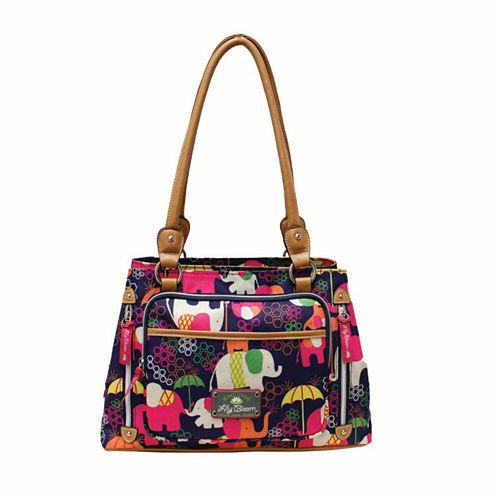 Lily Bloom Maggie Double Handle Satchel Bag