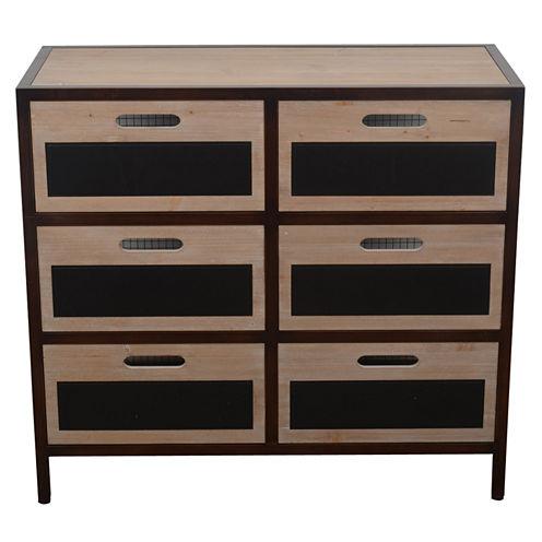 Decor Therapy Chalkboard Storage 6-Drawer StorageEnd Table