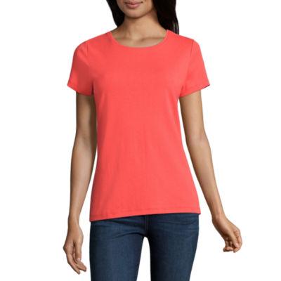 St John S Bay Womens Crew Neck Short Sleeve T Shirt