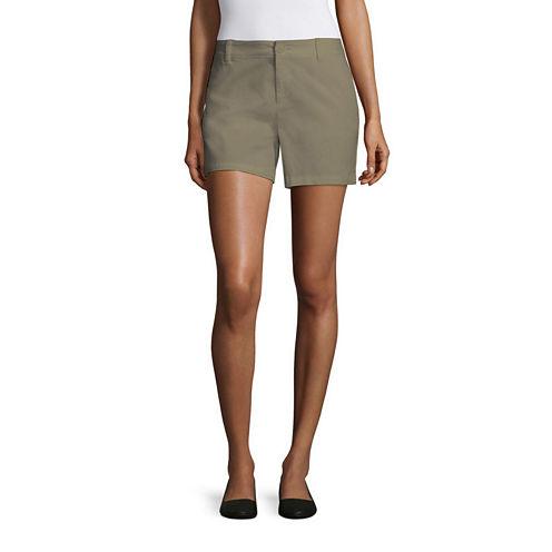"Liz Claiborne 5"" Twill Chino Shorts"