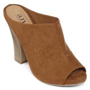a.n.a® Isha Peep-Toe High Heel Mule