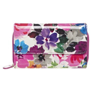 Mundi® Big Fat Wallet- Pansy Print