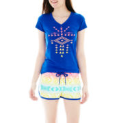 Sleep Riot Tee and Shorts Pajama Set