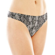 Ambrielle® Bonded Thong Panties