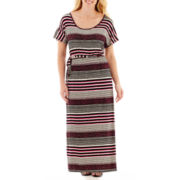a.n.a® Short-Sleeve Drawstring Maxi Dress - Plus