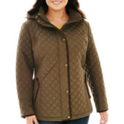 St. John's Bay® Midweight Quilted Jacket - Plus