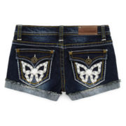 Vigoss® Denim Shorts with Faux-Leather Butterflies - Girls 7-16