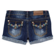 Vigoss® Embroidered Stud Denim Shorts - Girls 7-16