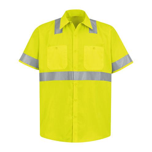 Red Kap® Short-Sleeve High-Visibility Shirt - Big & Tall