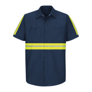 jcpenney.com | Red Kap® Short-Sleeve Visibility Shirt - Big & Tall
