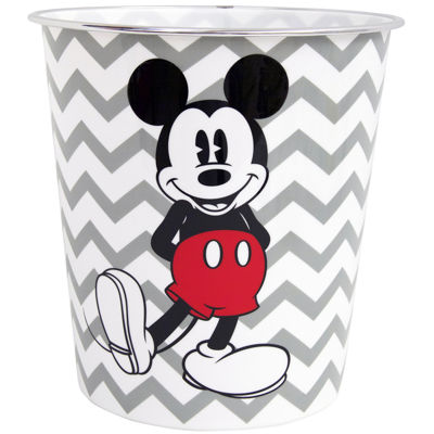 Disney Chevron Mickey Mouse Wastebasket