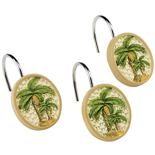 Avanti Colony Palm Shower Curtain Hooks