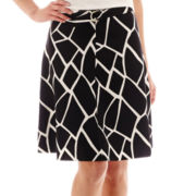 Worthington® Split A-Line Skirt with Belt - Tall
