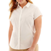 Worthington® Essential Short-Sleeve Shirt - Plus