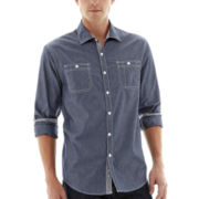 Michael Brandon Long-Sleeve Chambray Shirt
