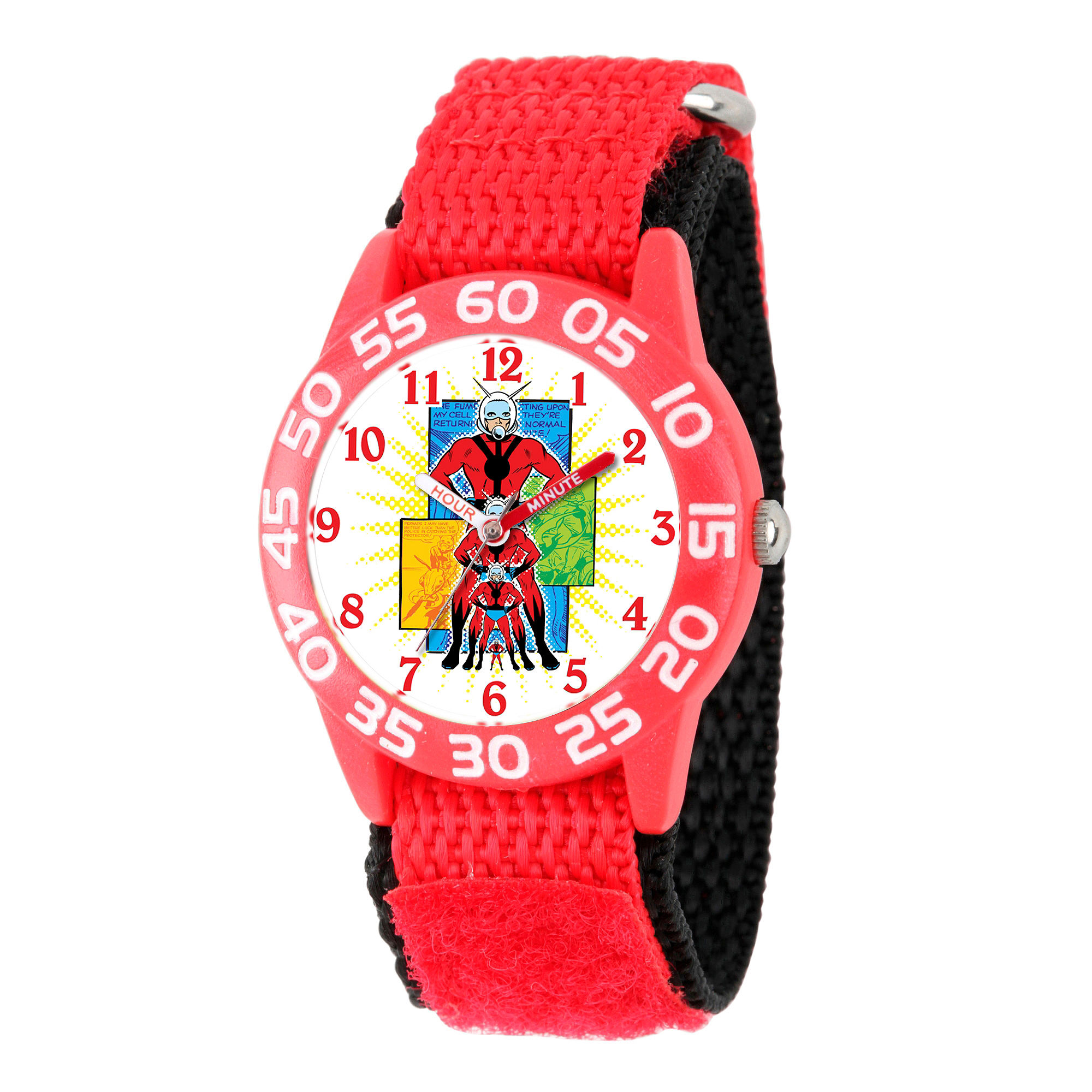 Marvel Boys Red And White Ant-Man Time Teacher Plastic Strap Watch W003107