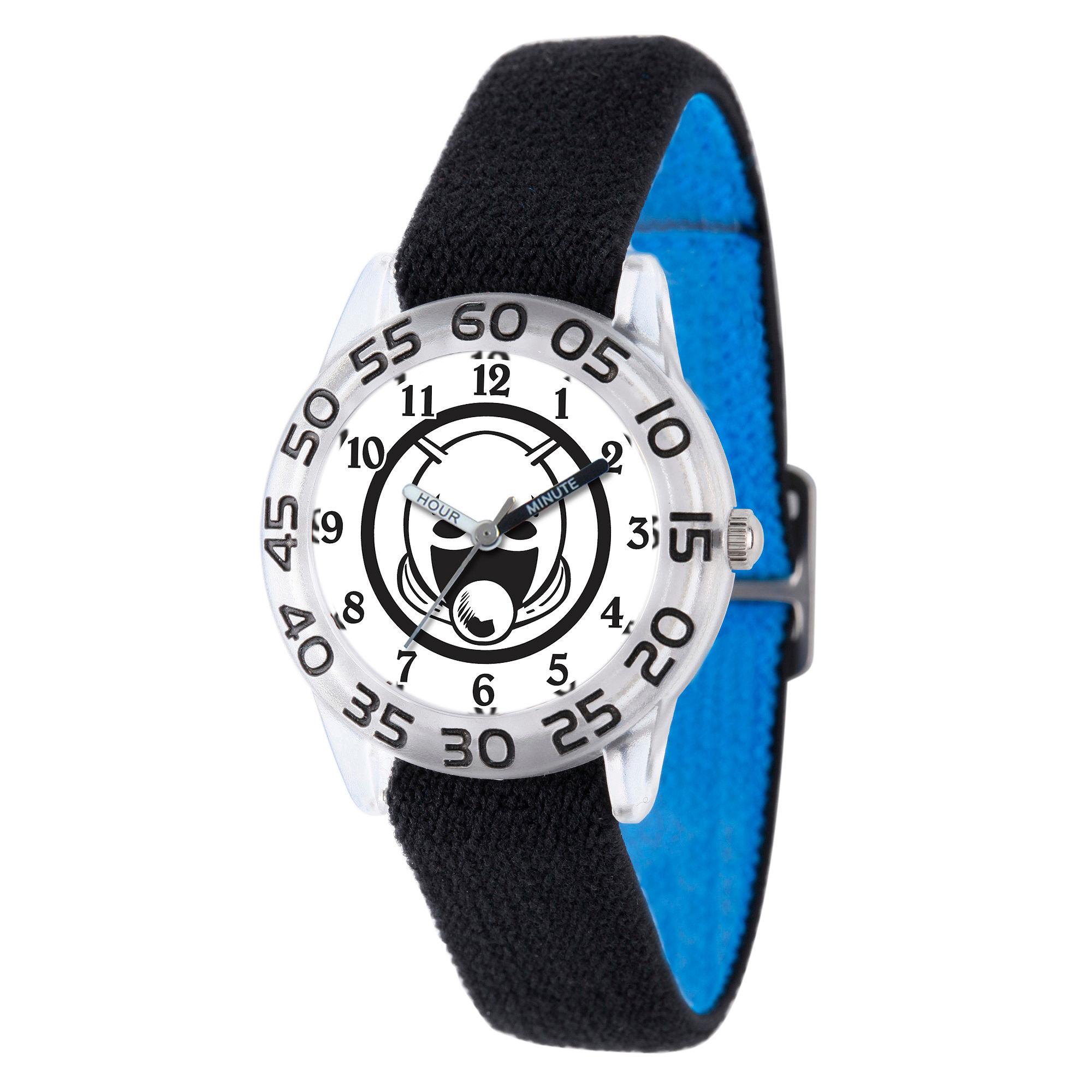 Marvel Boys Black And White Ant-Man Time Teacher Plastic Strap Watch W003109