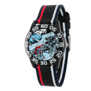 Marvel Boys Black And Red Ant-Man Time Teacher Plastic Strap Watch W003110