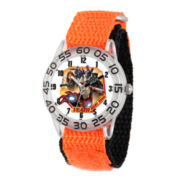 Marvel Boys Orange And Silver-Tone Captain American Civil War Time Teacher Plastic Strap Watch W003126
