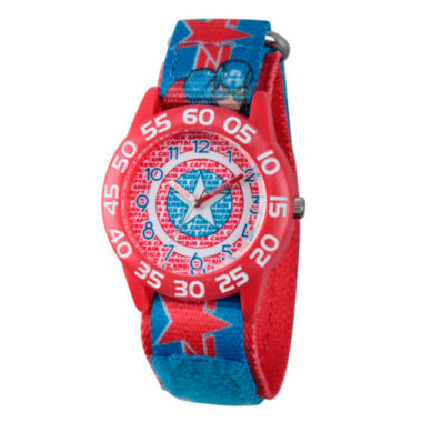jcpenney.com | Marvel Boys Red And Blue Avengers Assemble Time Teacher Plastic Strap Watch W003220