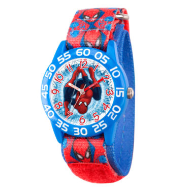 jcpenney.com | Marvel Boys Red And Blue Ultimate Spiderman Time Teacher Plastic Strap Watch W003226