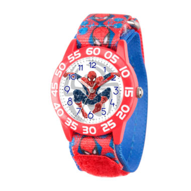 jcpenney.com | Marvel Boys Red Ultimate Spiderman Time Teacher Plastic Strap Watch W003229