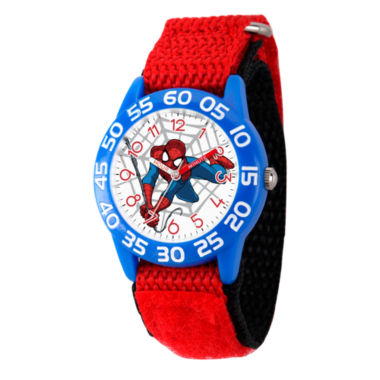 jcpenney.com | Marvel Boys Red And White Ultimate Spiderman Time Teacher Plastic Strap Watch W003232