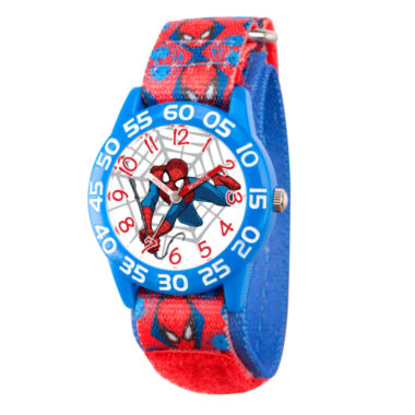 jcpenney.com | Marvel Boys Blue And Red Ultimate Spiderman Time Teacher Plastic Strap Watch W003233