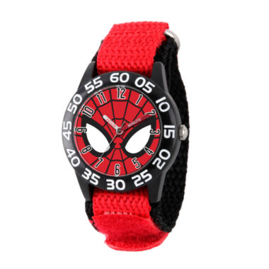 jcpenney.com | Marvel Boys Red Spiderman Time Teacher Plastic Strap Watch W003252