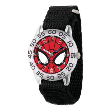 jcpenney.com | Marvel Boys Gray And Red Spiderman Time Teacher Plastic Strap Watch W003253