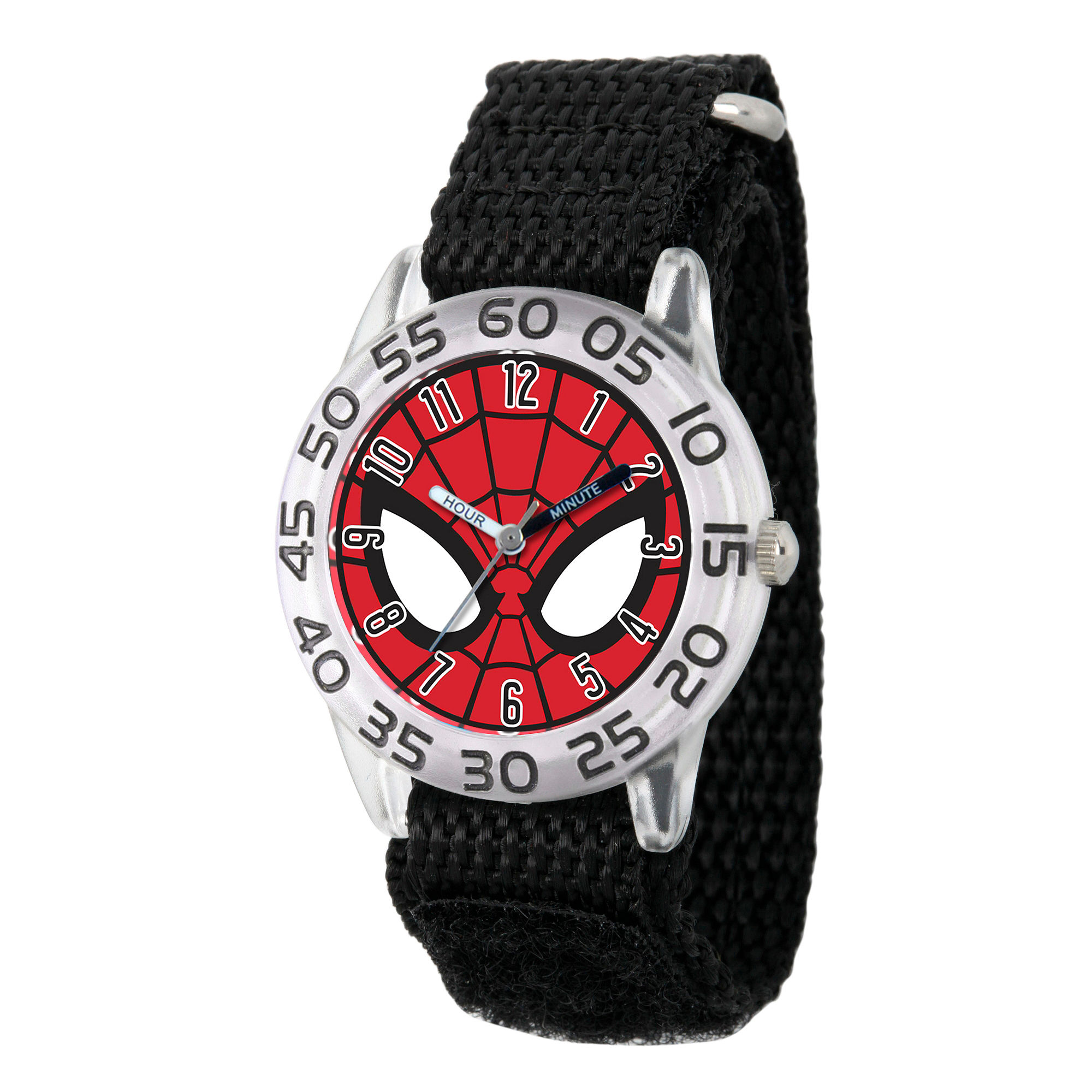 Marvel Boys Gray And Red Spiderman Time Teacher Plastic Strap Watch W003253