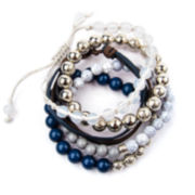 Arizona 5-pc. Multicolor Silver-Tone Bracelet Set
