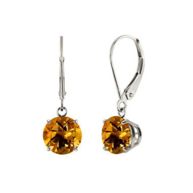 jcpenney.com | Genuine Citrine Sterling Silver Leverback Dangle Earrings