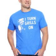 Fifth Sun™ Short-Sleeve I Turn Grills On Tee - Big & Tall