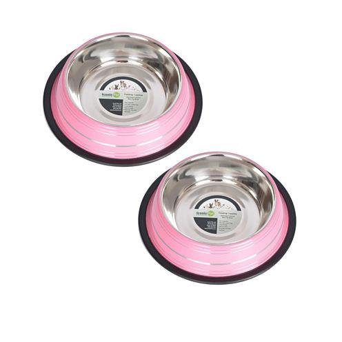 Iconic Pet 2-Pack 8-Cup Color Bowls